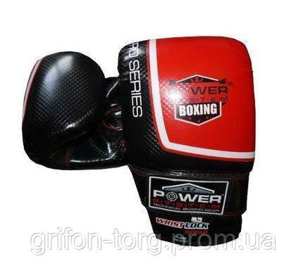 Перчатки снарядные Power System PS 5003 Bag Gloves Storm S Black/Red, фото 2