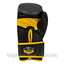 Перчатки для бокса PowerSystem PS 5005 Challenger 12oz Black/Yellow, фото 3