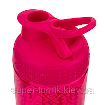 Спортивная бутылка-шейкер BlenderBottle SportMixer Signature Sleek PINK GEO LACE 820мл (ORIGINAL), фото 3