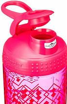 Спортивная бутылка-шейкер BlenderBottle SportMixer Signature Sleek PINK GEO LACE 820мл (ORIGINAL), фото 2
