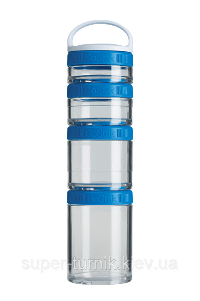 Контейнер спортивный BlenderBottle GoStak Starter 4 Pak Blue (ORIGINAL)