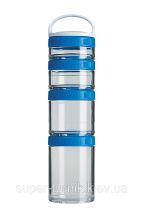 Контейнер спортивный BlenderBottle GoStak Starter 4 Pak Blue (ORIGINAL), фото 2
