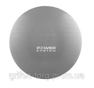 М'яч для фітнесу і гімнастики POWER SYSTEM PS-4011 55cm Grey