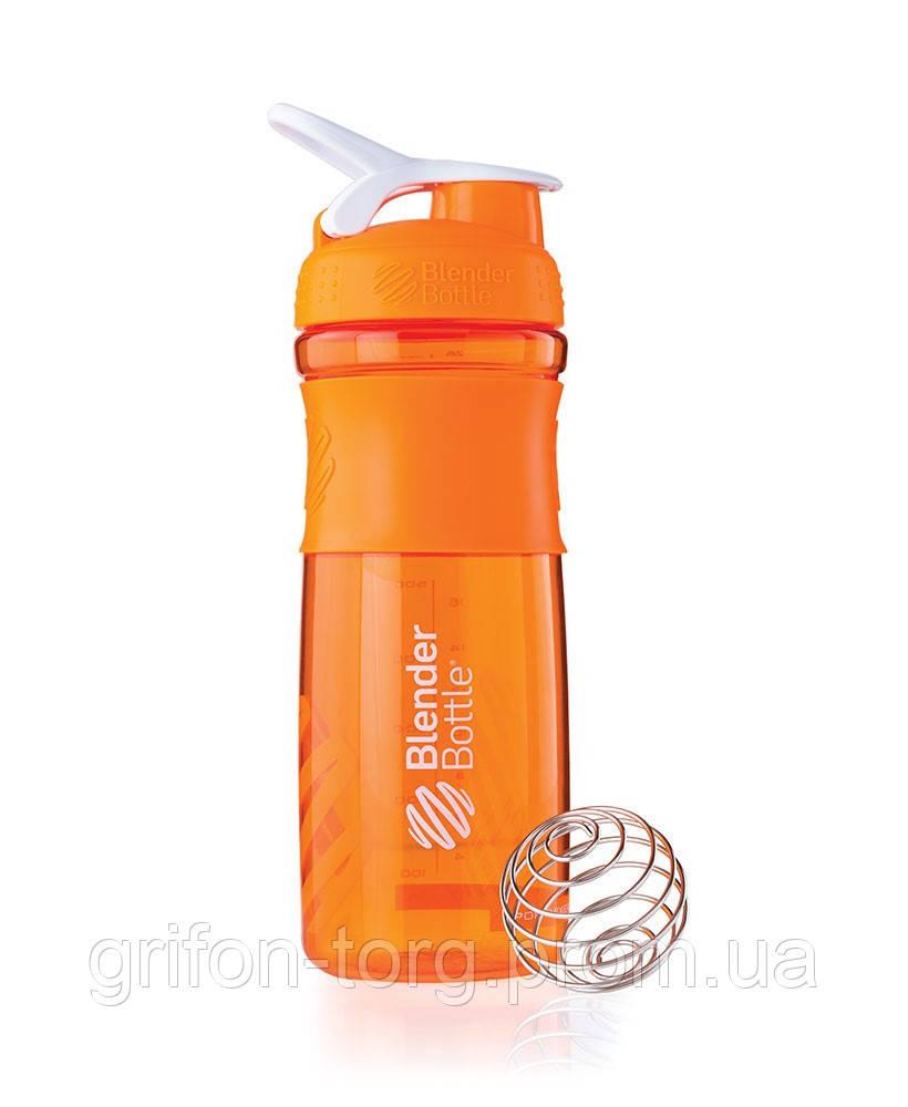 Спортивная бутылка-шейкер BlenderBottle SportMixer 28oz/820ml оранжевый (ORIGINAL)