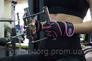 Перчатки для фитнеса и тяжелой атлетики женские Power System Fitness Chica PS-2710 S Pink, фото 2