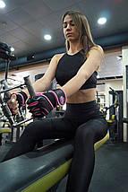 Перчатки для фитнеса и тяжелой атлетики женские Power System Fitness Chica PS-2710 S Pink, фото 3
