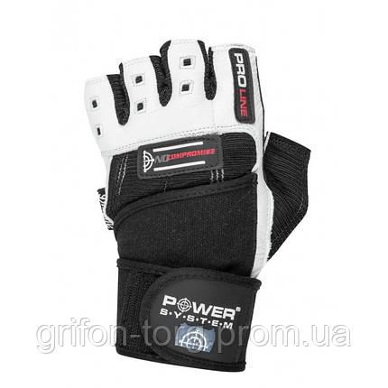 Перчатки для фитнеса и тяжелой атлетики Power System No Compromise PS-2700 L Black/White, фото 2