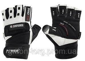 Перчатки для фитнеса и тяжелой атлетики Power System No Compromise PS-2700 L Black/White, фото 3
