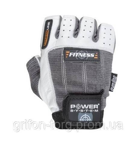 Перчатки для фитнеса и тяжелой атлетики Power System Fitness PS-2300 L Grey/White