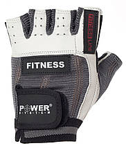 Перчатки для фитнеса и тяжелой атлетики Power System Fitness PS-2300 L Grey/White, фото 3