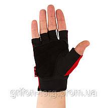 Перчатки для фитнеса и тяжелой атлетики Power System Pro Grip EVO PS-2250E S Red, фото 3