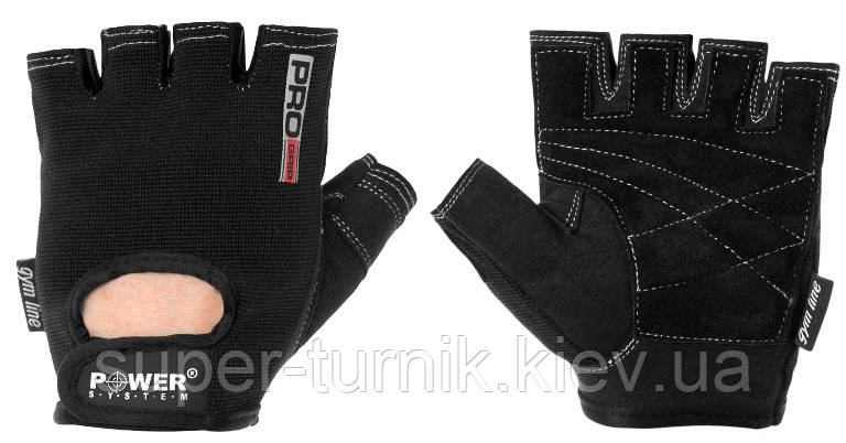 Перчатки для фитнеса и тяжелой атлетики Power System Pro Grip PS-2250 XS Black, фото 2