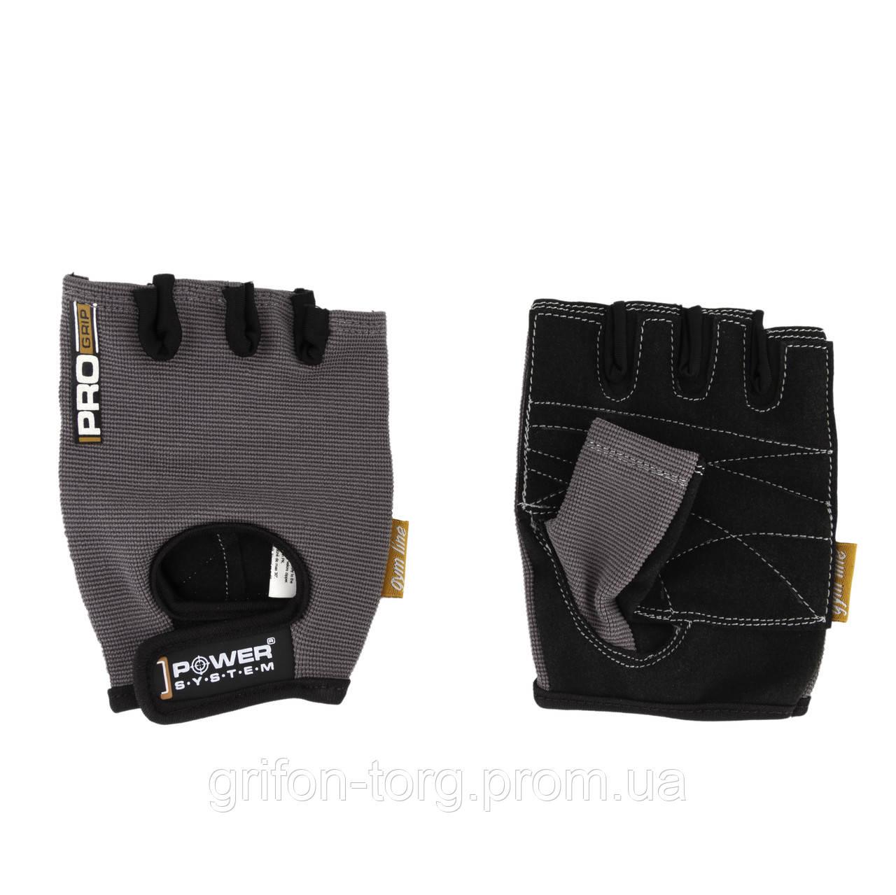 Перчатки для фитнеса и тяжелой атлетики Power System Pro Grip PS-2250 XS Grey