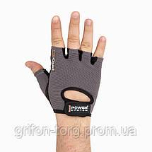Перчатки для фитнеса и тяжелой атлетики Power System Pro Grip PS-2250 XS Grey, фото 3