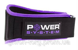 Пояс неопреновый для тяжелой атлетики Power System Woman's Power PS-3210 S Purple, фото 3