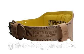Пояс для тяжелой атлетики Power System Elite PS-3030 M Natural, фото 3