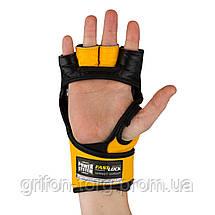 Перчатки для ММА Power System PS 5010 Katame Evo S/M Black/Yellow, фото 3
