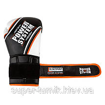 Перчатки для бокса PowerSystem PS 5006 Contender 12oz Black/Orange Line, фото 2