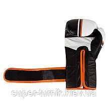 Перчатки для бокса PowerSystem PS 5006 Contender 12oz Black/Orange Line, фото 3