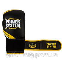 Перчатки для бокса PowerSystem PS 5005 Challenger 16oz Black/Yellow, фото 2