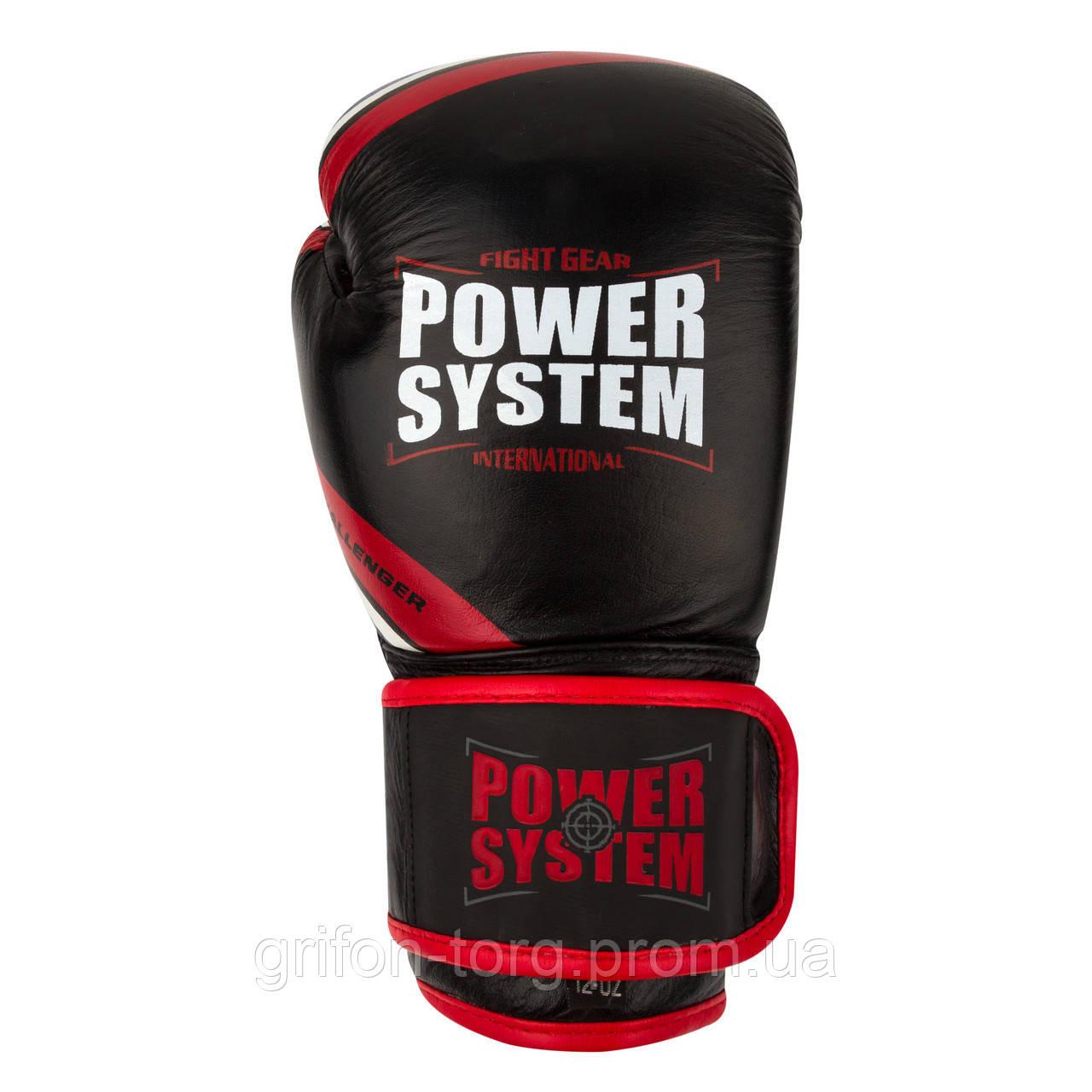 Перчатки для бокса PowerSystem PS 5005 Challenger 14oz Black/Red