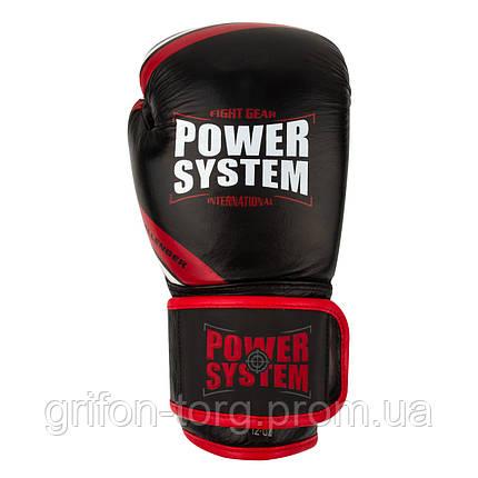 Перчатки для бокса PowerSystem PS 5005 Challenger 14oz Black/Red, фото 2