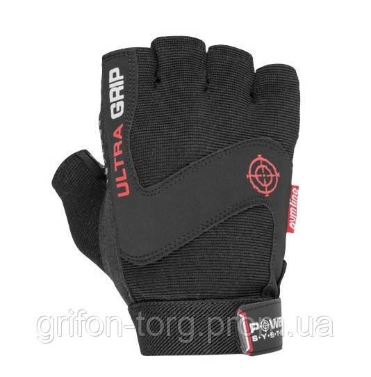 Перчатки для фитнеса и тяжелой атлетики Power System Ultra Grip PS-2400 L Black