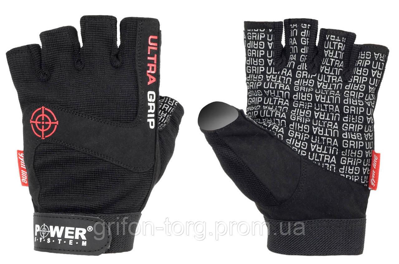 Перчатки для фитнеса и тяжелой атлетики Power System Ultra Grip PS-2400 XL Black