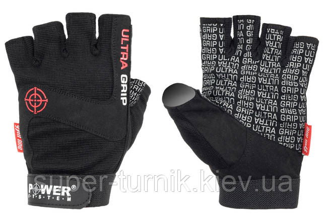 Перчатки для фитнеса и тяжелой атлетики Power System Ultra Grip PS-2400 XL Black, фото 2