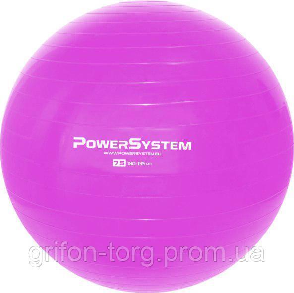 Мяч для фитнеса и гимнастики Power System PS-4013 Pro Gymball 75 cm Pink