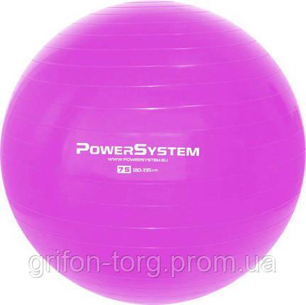 Мяч для фитнеса и гимнастики Power System PS-4013 Pro Gymball 75 cm Pink, фото 2