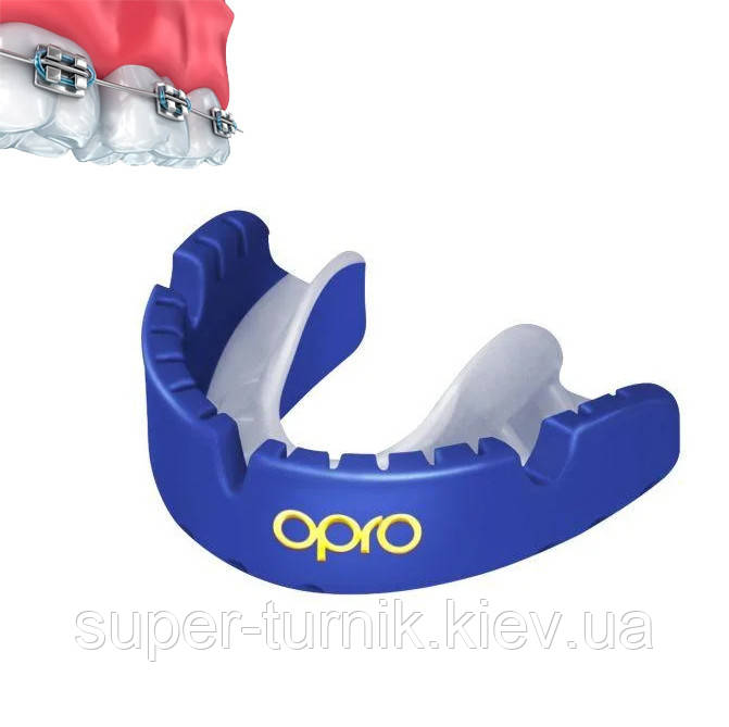 Капа OPRO Gold Braces Prl Blue/Prl (art.002227006)
