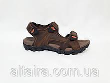 Сандалии мужские летние коричневые из натуральной кожи
