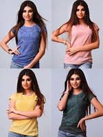 Футболки женские S M L XL хлопок Турция разные цвета