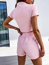 Костюм женский трикотажный летний повседневный топ и шорты, фото 2