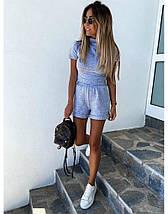 Костюм женский трикотажный летний повседневный топ и шорты, фото 3