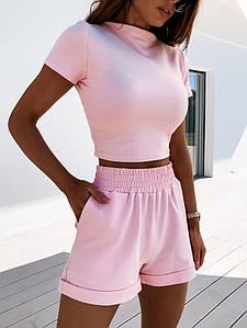 Костюм жіночий трикотажний літній повсякденний топ і шорти
