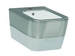 Halley Биде белый/декор серебро 3206-2605-1201 IDEVIT