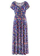 Батальное летнее платье в цветы  Bonprix