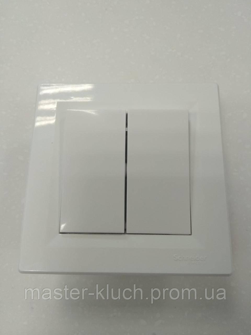 Выключатель маршевый двухклавишный Schneider Electric Asfora