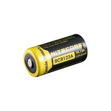 Аккумулятор литиевый CR123A Li-Ion Nitecore NL166 (650mAh)