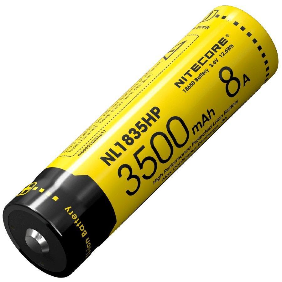 Аккумулятор 18650 (3500mAh, 8A) Nitecore NL1835HP защищенный