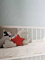Обои бумажные экоYORK Disney kids 4 D0985 детские звезды созвездия кометы месяц белые на серо голубом, фото 1