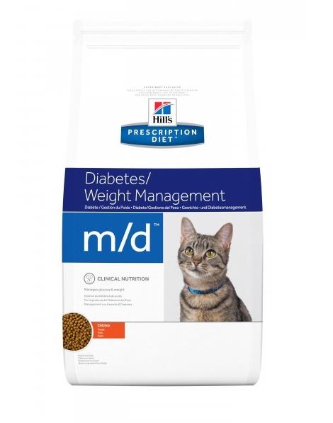 Корм Хіллс PD Feline M/D при цукровому діабеті, ожирінні, 1,5 кг