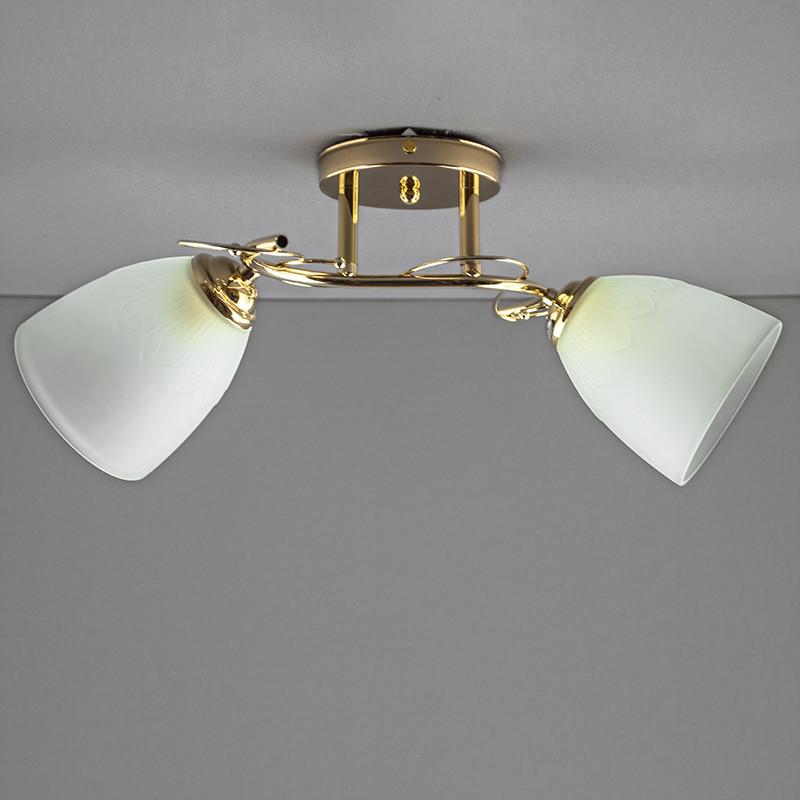 Люстра потолочная на две лампы SZ-814961/2 FGD E27 золото