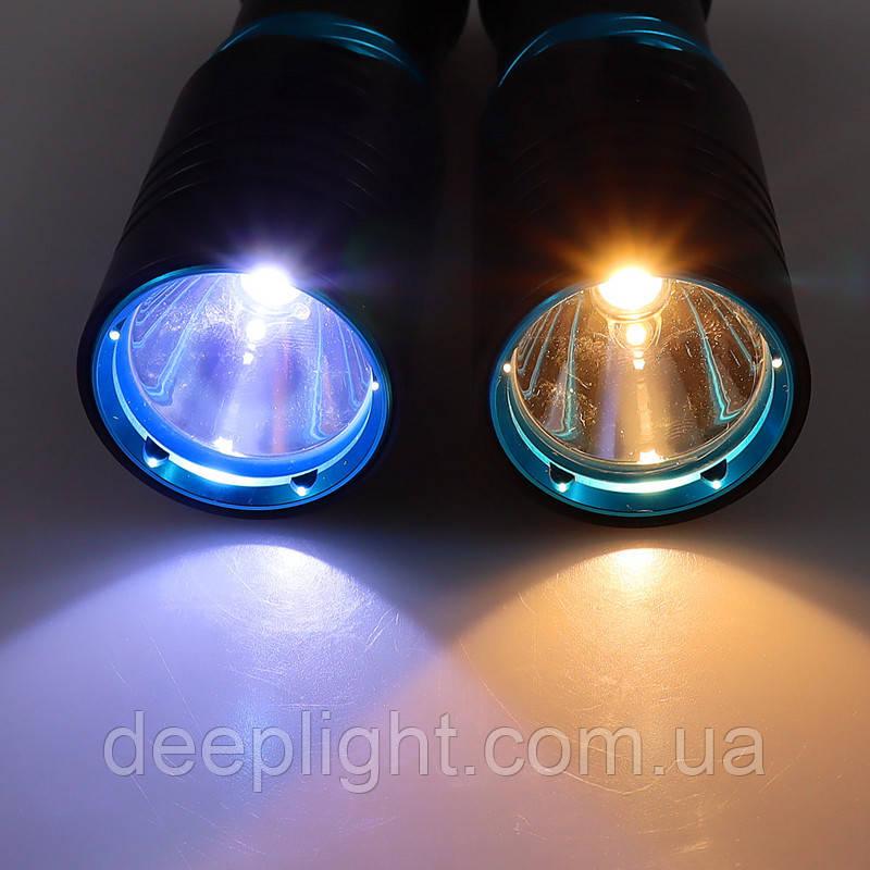 Підводний ліхтар Compact на Cree XML T6 10W під 26650/18650 з білим світлом