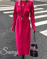 Вечернее женское шелковое платье миди 4 цвета