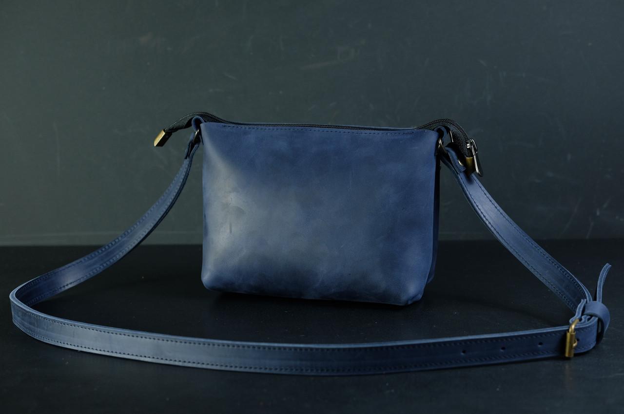 Сумка женская. Кожаная сумочка Лето Винтажная кожа цвет Синий