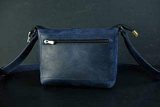 Сумка женская. Кожаная сумочка Лето Винтажная кожа цвет Синий, фото 3