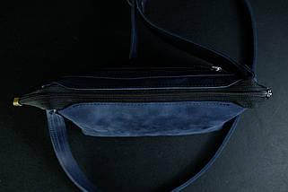 Сумка женская. Кожаная сумочка Лето Винтажная кожа цвет Синий, фото 2